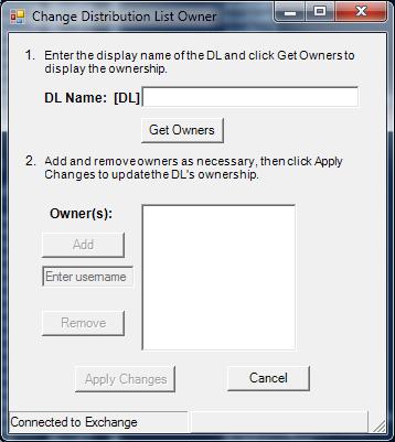 Change DL Owner screenshot