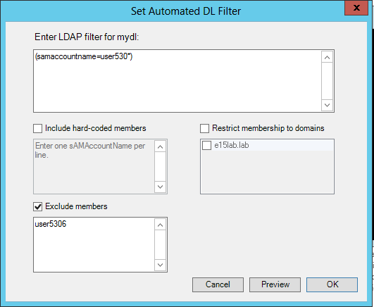 Set Filter with Exclude Option